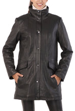 "Load image into Gallery viewer, BGSD Women's ""Rachel"" New Zealand Lambskin Leather Coat"