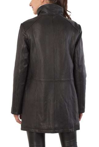 "BGSD Women's ""Rachel"" New Zealand Lambskin Leather Coat"
