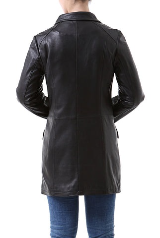 "BGSD Women's ""Rachel"" New Zealand Lambskin Leather Coat - Petite"