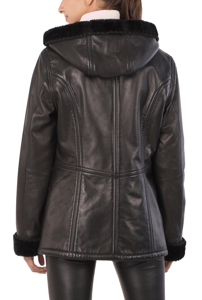 Womens Leather Parka Jackets