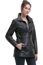 Load image into Gallery viewer, BGSD Women's New Zealand Lambskin Leather Jacket