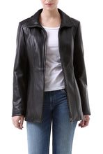 "Load image into Gallery viewer, BGSD Women's ""Becca"" New Zealand Lambskin Leather Jacket"
