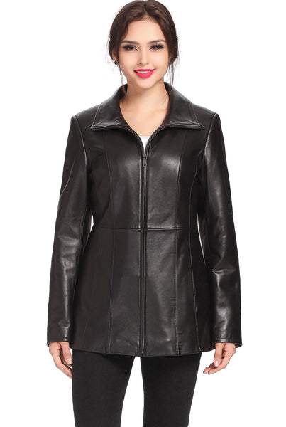 "BGSD Women's ""Becca"" New Zealand Lambskin Leather Jacket - Plus Short"