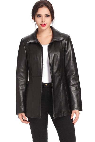 "BGSD Women's ""Becca"" New Zealand Lambskin Leather Jacket - Plus"