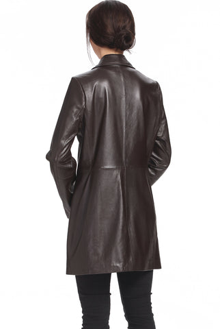 bgsd womens danielle new zealand lambskin leather walking coat plus 1