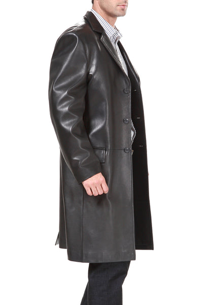 bgsd mens new zealand lambskin leather long walking coat big
