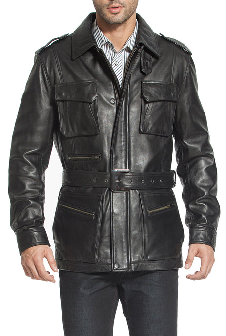 bgsd mens heritage new zealand lambskin leather trench coat