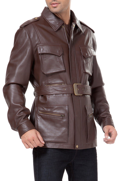 bgsd mens heritage new zealand lambskin leather trench coat 2