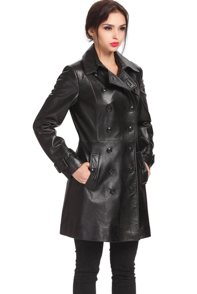 "BGSD Women's ""Ginger"" New Zealand Lambskin Leather Coat"