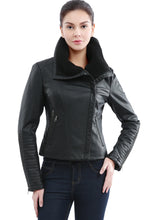 Load image into Gallery viewer, Jessie G. Women's 'Emmy' Vegan Leather Jacket
