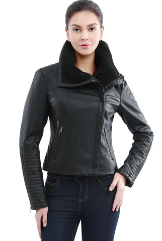 Jessie G. Women's 'Emmy' Vegan Leather Jacket