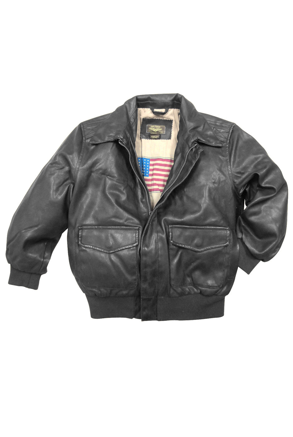 Landing Leathers Big Boys Air Force A2 Faux Leather Flight Bomber Jacket (A-2)