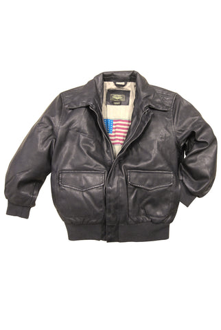Landing Leathers Big Boys Air Force A-2 Faux Leather Flight Bomber Jacket