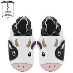 Kimi + Kai Unisex Soft Sole Leather Baby Shoes - Cow