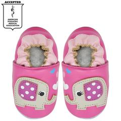 Kimi + Kai Girls Soft Sole Leather Baby Shoes - Elephant