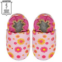 Kimi + Kai Girls Soft Sole Leather Baby Shoes - Wildflower
