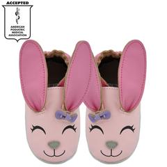 Kimi + Kai Girls Soft Sole Leather Baby Shoes - Bunny