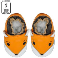 Kimi + Kai Unisex Baby Soft Sole Leather Baby Shoes - Foxy