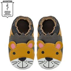 Kimi + Kai Boys Soft Sole Leather Baby Shoes - Lion