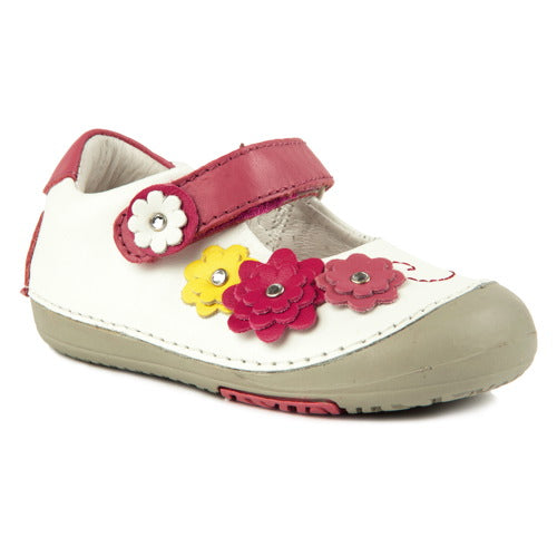 Momo Baby Girls First Walker Toddler Flower Power Mary Jane Leather Shoes