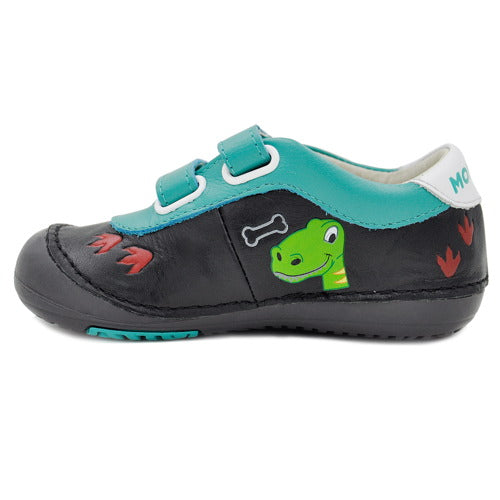 Momo Baby Boys First Walker Toddler Dinosaur Leather Sneaker Shoes