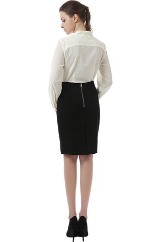 "Phistic Women's ""Roxanne"" Zipper Detail Ponte Pencil Skirt"