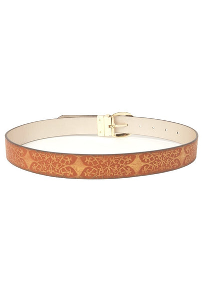 Steve Madden Women's Cognac/Gold Reversible Belt