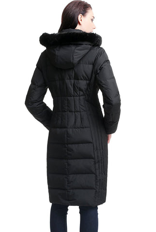 "BGSD Women's ""Marlene"" Waterproof Hooded Long Down Coat - Plus"