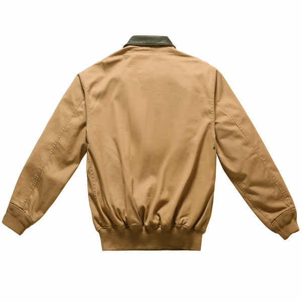 Landing Leathers Men's Air Force A2 Leather Trim Bomber Jacket (A-2)