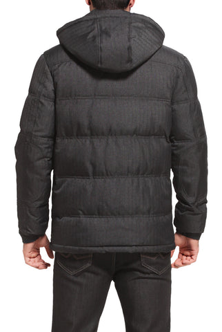 "BGSD Men's ""Aaron"" Water Resistant Herringbone Down Jacket"