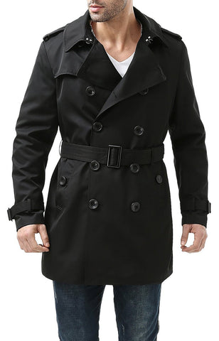 BGSD Men's Cameron Waterproof Mid Length Trench Coat