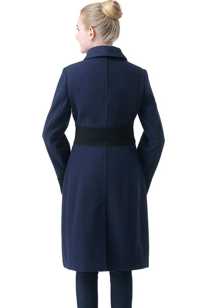 "BGSD Women's ""Ezra"" Wool Blend Colorblock Maxi Walking Coat"