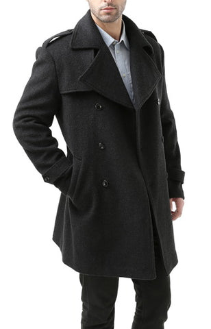 BGSD Men's 'Preston' Cashmere Blend Paletot Inspired Over Coat - Big