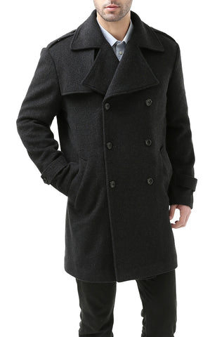 BGSD Men's 'Preston' Cashmere Blend Paletot Inspired Over Coat