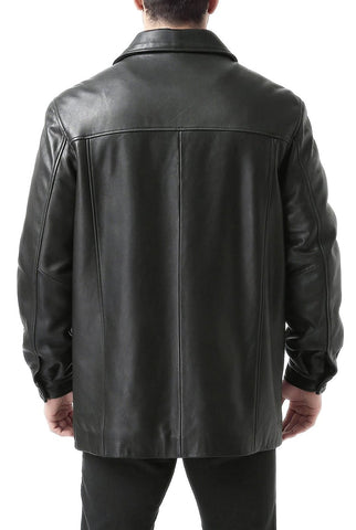 "BGSD Men's ""Samuel"" New Zealand Lambskin Leather Car Coat - Tall"