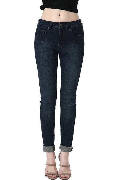 phistic Women's Ultra Stretch Dark Indigo Skinny Jeans