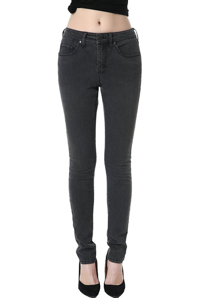 phistic Women's Ultra Stretch Gray Skinny Jeans