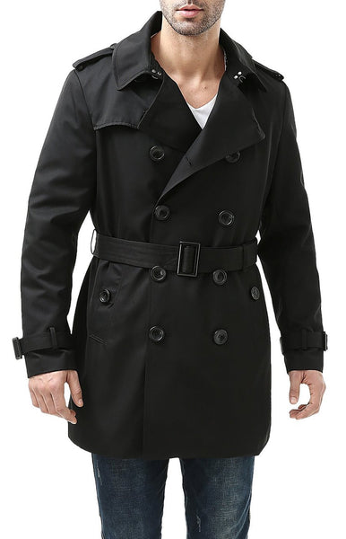 "BGSD Men's ""Cameron"" Waterproof Mid Length Trench Coat"