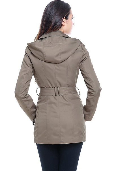 "BGSD Women's ""Tori"" Classic Hooded Short Trench Coat"