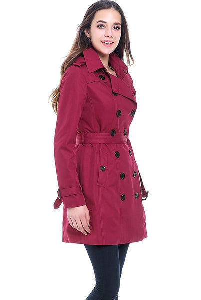 "BGSD Women's ""Viv"" Hooded Mid Length Trench Coat"