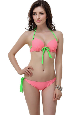 "Miss Adola Women's ""Molly"" Bikini Top & Bottom 2-Piece Swim Bathing Suit Set"