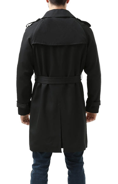 "BGSD Men's ""Ethan"" Traditional Single Breasted Trench Coat"