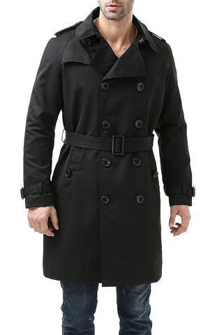 BGSD Men's Anthony Classic Waterproof Double Breasted Trench Coat