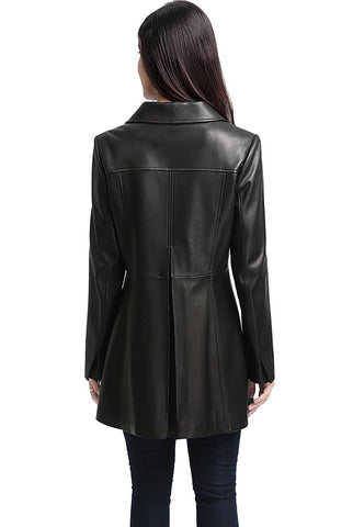 "BGSD Women's ""Belle"" New Zealand Lambskin Leather Walking Coat"