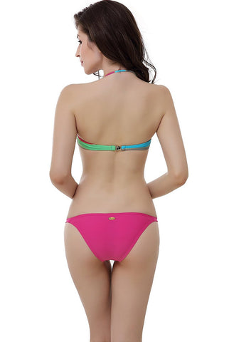 "Miss Adola Women's ""Jessa"" Bikini Top & Bottom 2-Piece Swimwear Set"