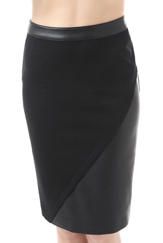 "Phistic Women's ""Hadley"" Faux Leather Paneled Pencil Skirt"