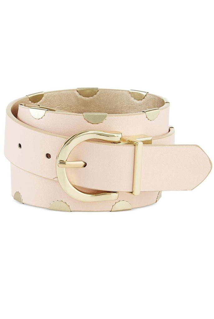 Steve Madden Women's Gold/Blush Side Clip Reversible Belt
