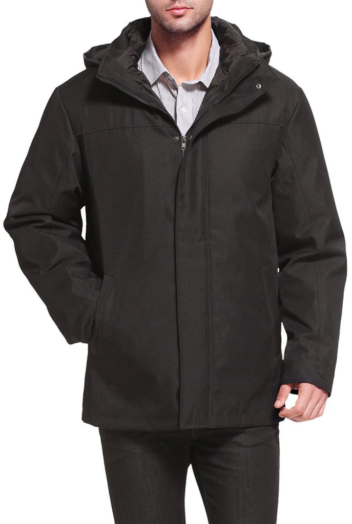 "BGSD Men's ""Brent"" 3-in-1 Waterproof Hooded Down Parka Coat"