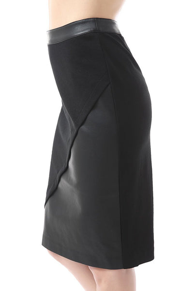 phistic womens hadley faux leather paneled pencil skirt