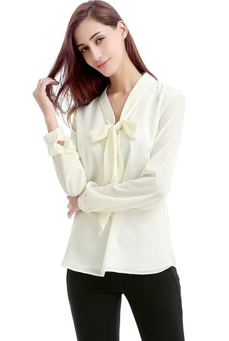 "Phistic Women's ""Florence"" Tie Neck Pullover Blouse"